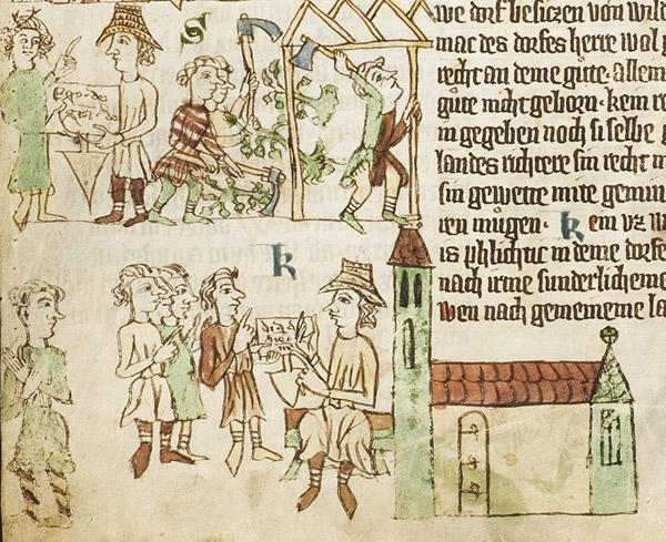 Geschichte Brandenburgs in romanischer Zeit. Lokator und Hausbau Sachsenspiegel