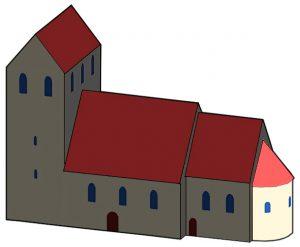 Brandenburgische Architektur der Romanik Kirchenapsis