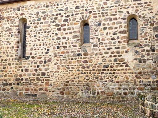 Bad Belzig Marienkirche Chor Nordseite mit Baunaht