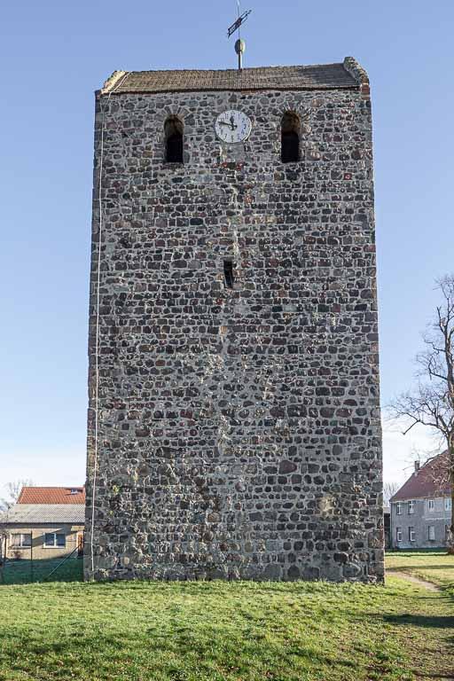 Dorfkirche Dahnsdorf Westriegel ohne Portal