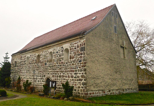 Dorfkirche Jeserig Westwand