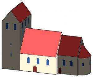 Brandenburgische Architektur der Romanik Kirchenschiff