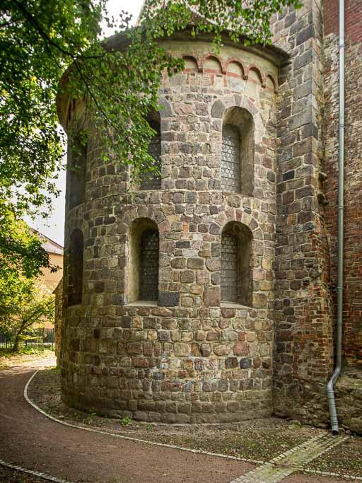 Apsis der Marienkirche von Nordost aufgenommen