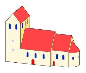 Brandenburgische Architektur der Romanik Vierseitige-Anlage