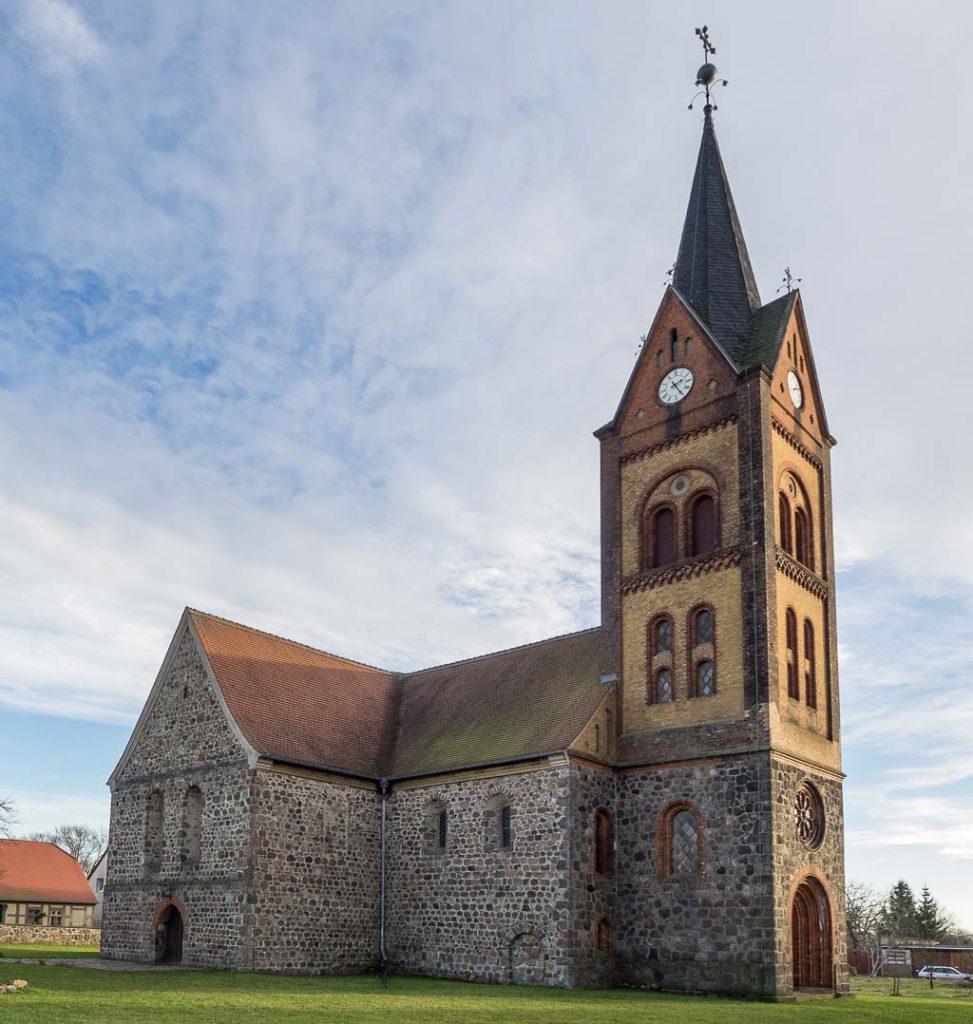 Stadtkirche St. Marien Wiesenburg von Nordwesten