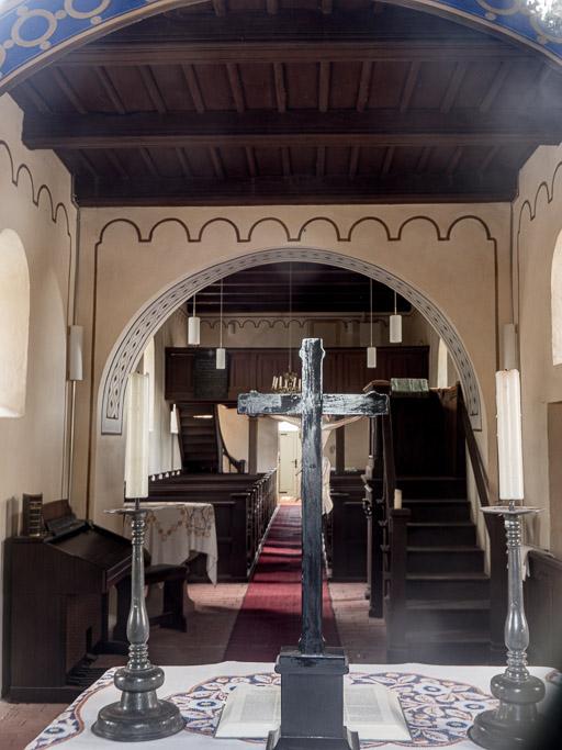 Dorfkirche Boecke Durch den Architekten Werner veränderter Innenraum.