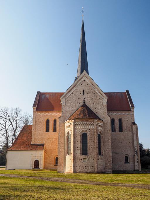 Kloster Dobrilugk Ostansicht von Querschiff, Chor und Apsis