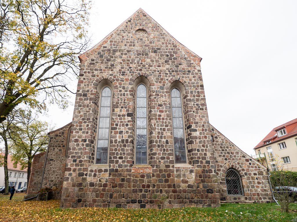 Stadtpfarrkirche St. Marien Strausberg Originale Ostwand des Chors