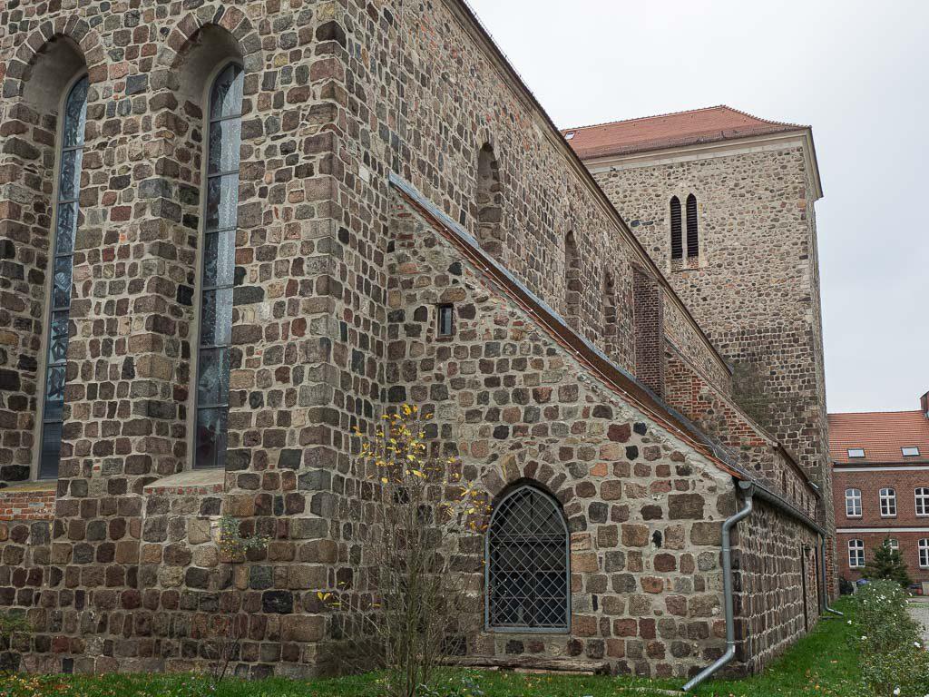 Stadtpfarrkirche St. Marien Strausberg Ansicht von NE auf den Chor mit Sakristeianbau