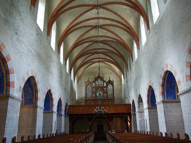 Zinna Klosterkirche: Schiff Blick nach Westen.