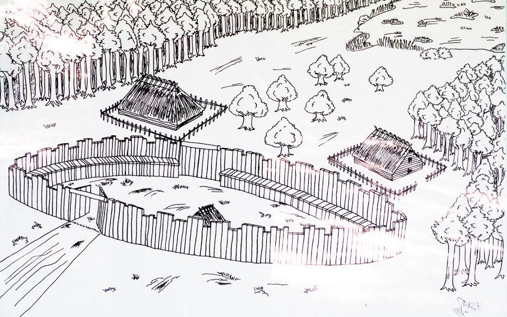 Geschichte Brandenburgs in romanischer Zeit. Siedlungsphase 1 Düppel Palisade
