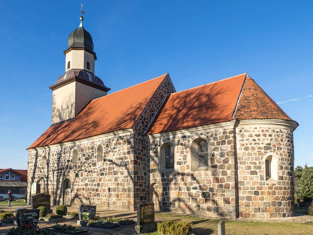 Dorfkirche Grubo Ansicht von Südost
