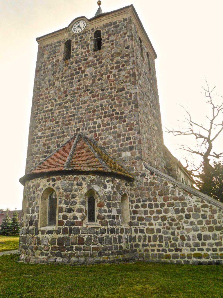 Chorturmkiche Grünow Turm mit Apsis Ansicht von Osten