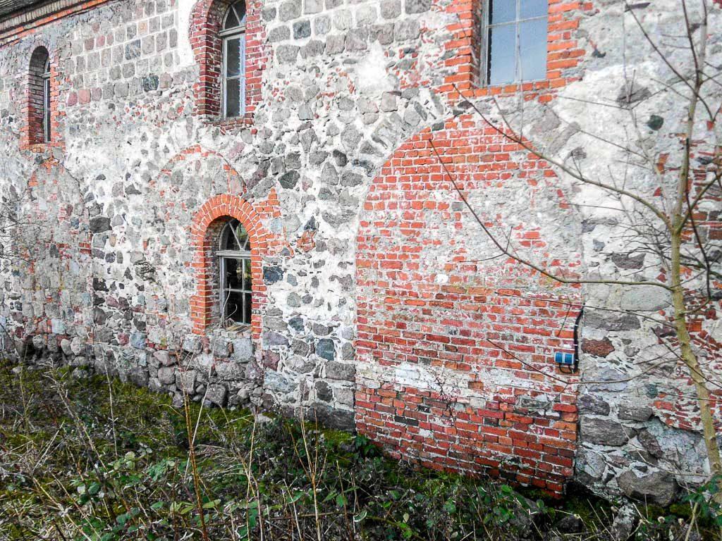 Dorfkirche Prädikow Arkaden des nördlichen Seitenschiffs
