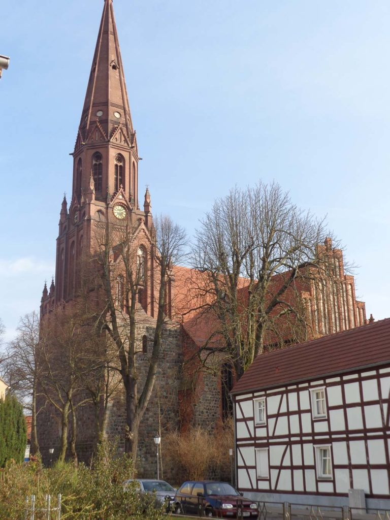 Stadtkirche St. Nikolai Pritzwalk. Ansicht von Südwest.