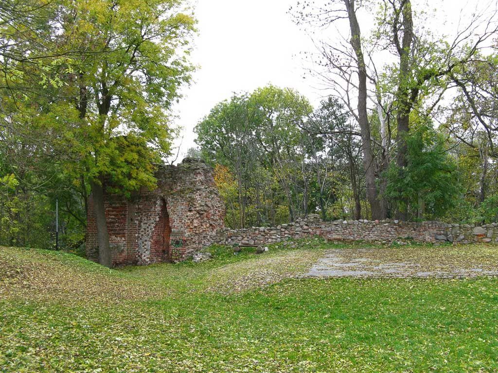 Burg Putlitz Mauerreste.