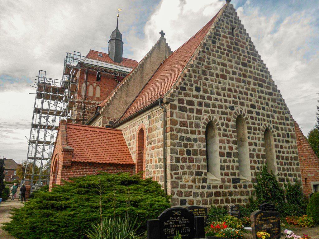 Dorfkirche Frankena Blick von Südost