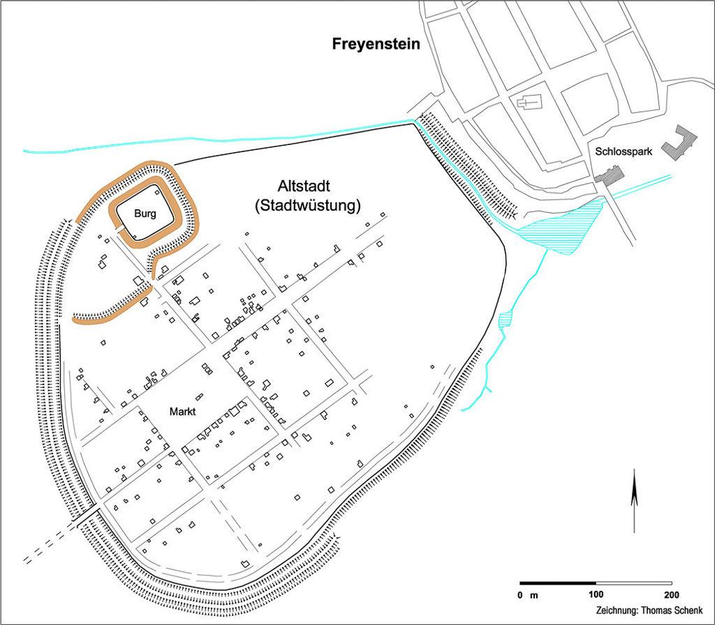 Stadtwüstung Freyenstein Stadtplan rekonstruiert