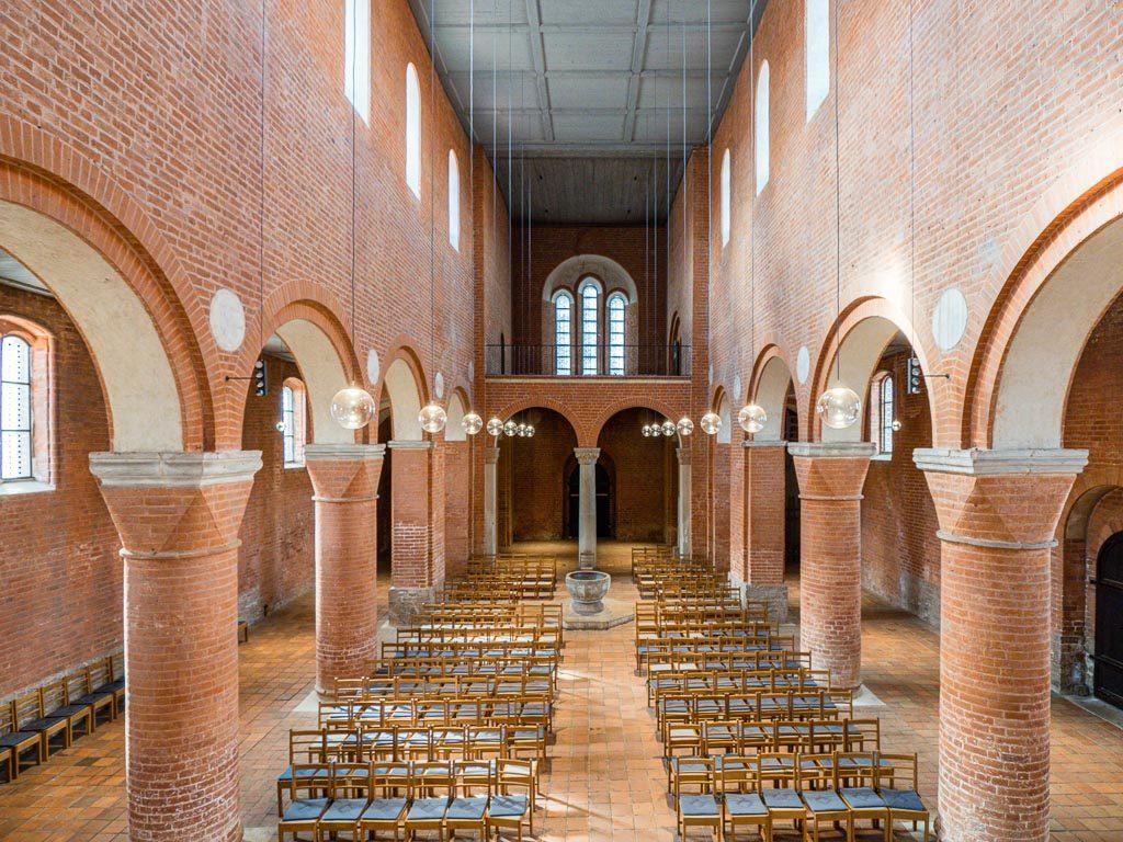 Stiftskirche Jerichow Hauptschiff und Seitenschiffe. Blick nach Westen.