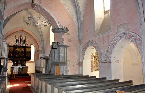 Dorfkirche Lindena Innenansicht