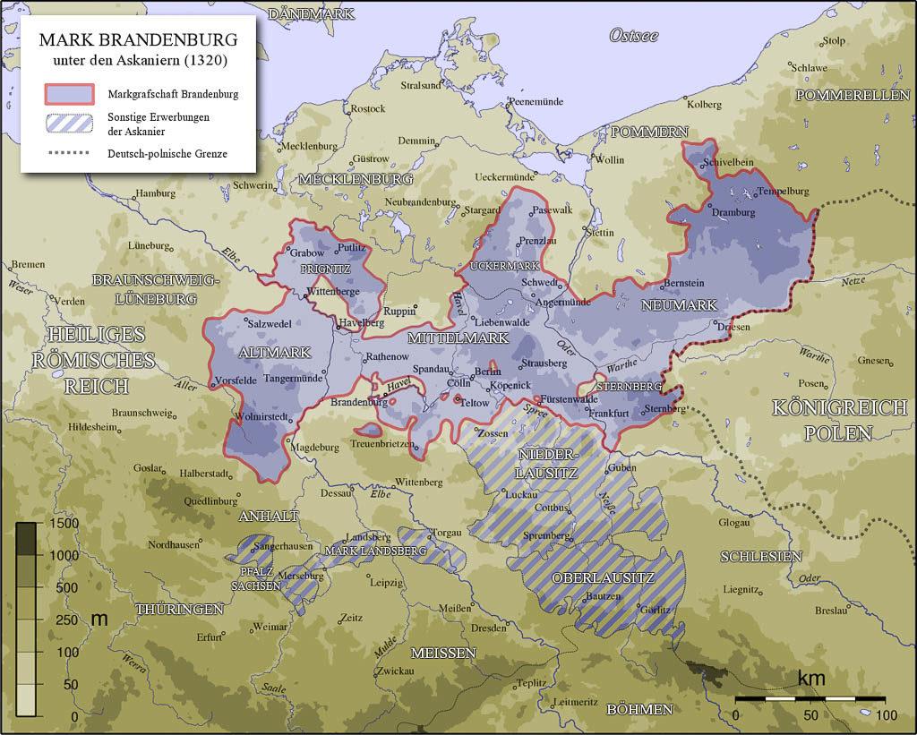 Geschichte Brandenburgs in romanischer Zeit. Die Mark Brandenburg unter den Askaniern um 1320