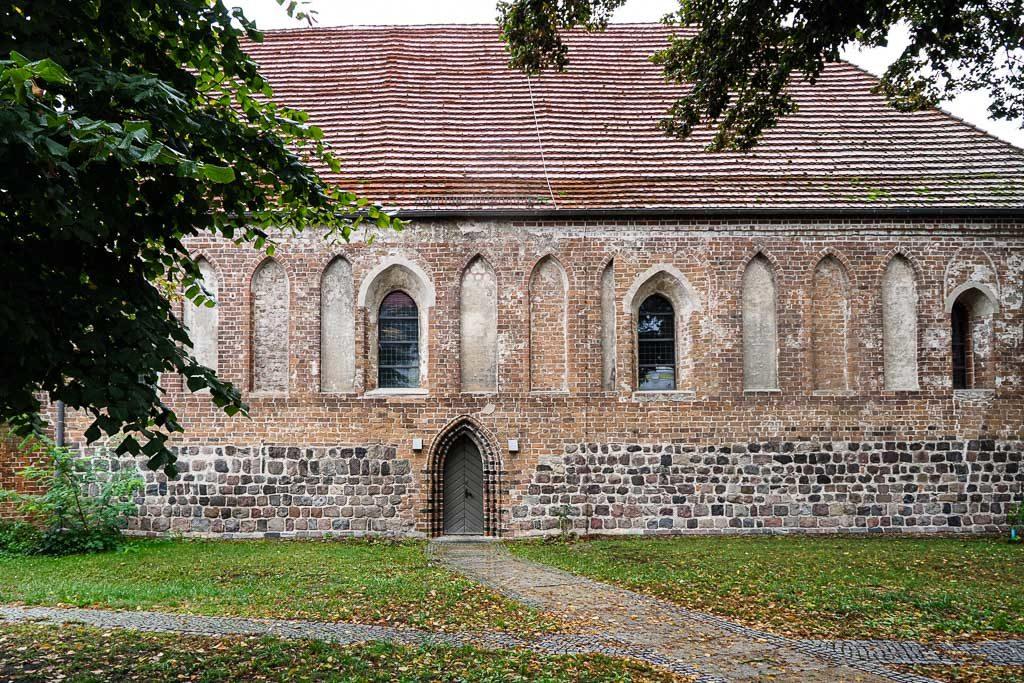 Petrikapelle Feldsteinmauerwerk Aufnahme von Norden