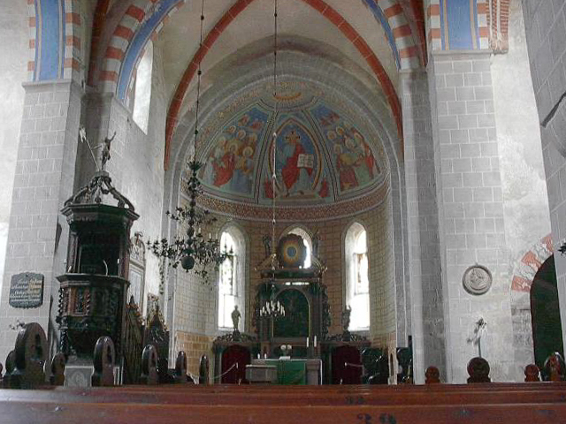Zinna Klosterkirche: Chor Blick zur Apsis nach Osten.