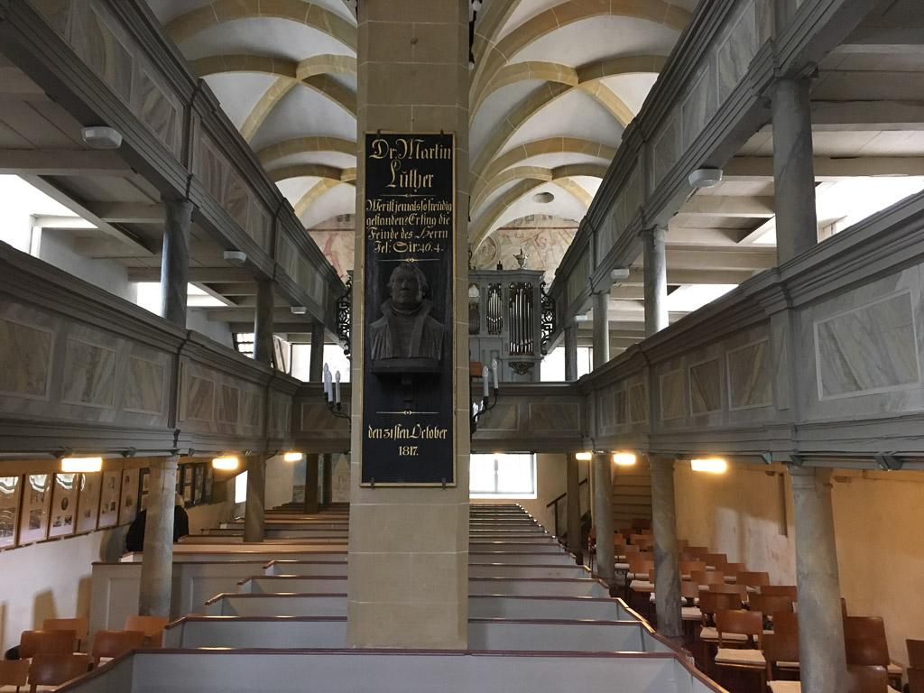 Dorfkirche Plaue Schiff Innenansicht