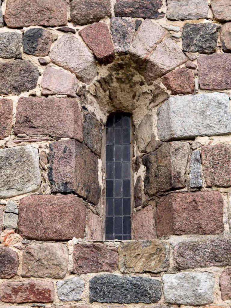 Dorfkirche Werder Jüterbog originales Rundbogenfenster Schiff Nordfassade