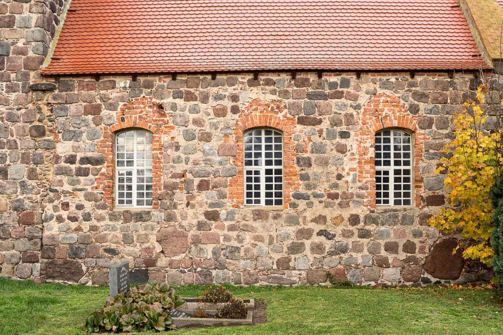 Dorfkirche Werder Jüterbog Südwand des Schiffes