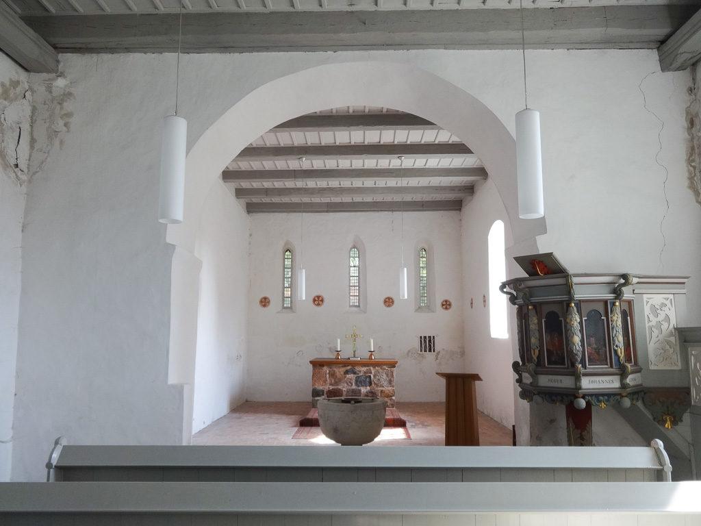 Dorfkirche Werder bei Jüterbog Innenansicht Schiff und Chor