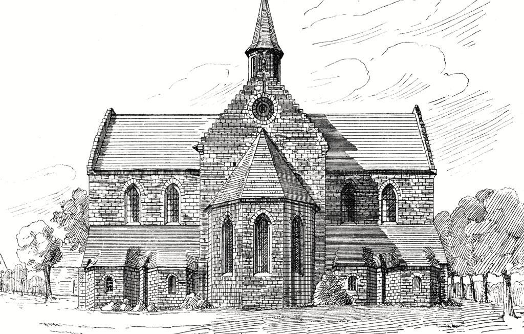 Zinna Klosterkirche: Ostseite mit Apsis und den vier polygonalen Nebenapsiden.