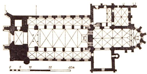 Brandenburg Dom, Grundriss nach Georg Dehio, gemeinfrei.