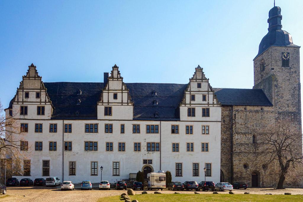 Schloss Leitzkau (St. Marienkirche). Ansicht von Westen.