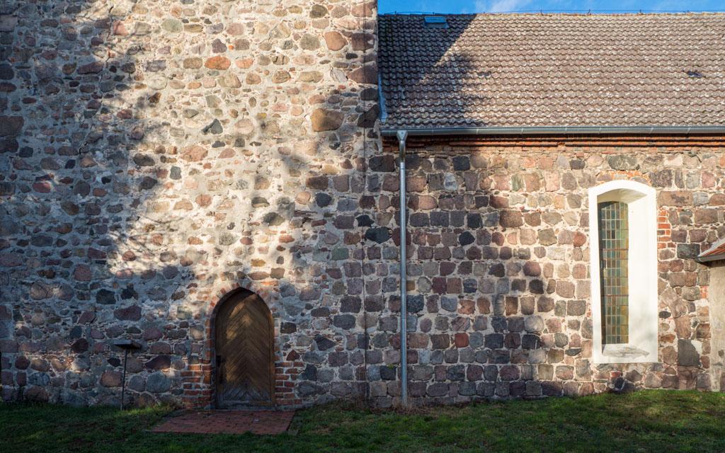 Dorfkirche Neuentempel Übergang vom Schiff zum Turm