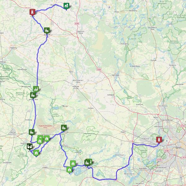 Westliche Route Von Spandau nach Freyenstein