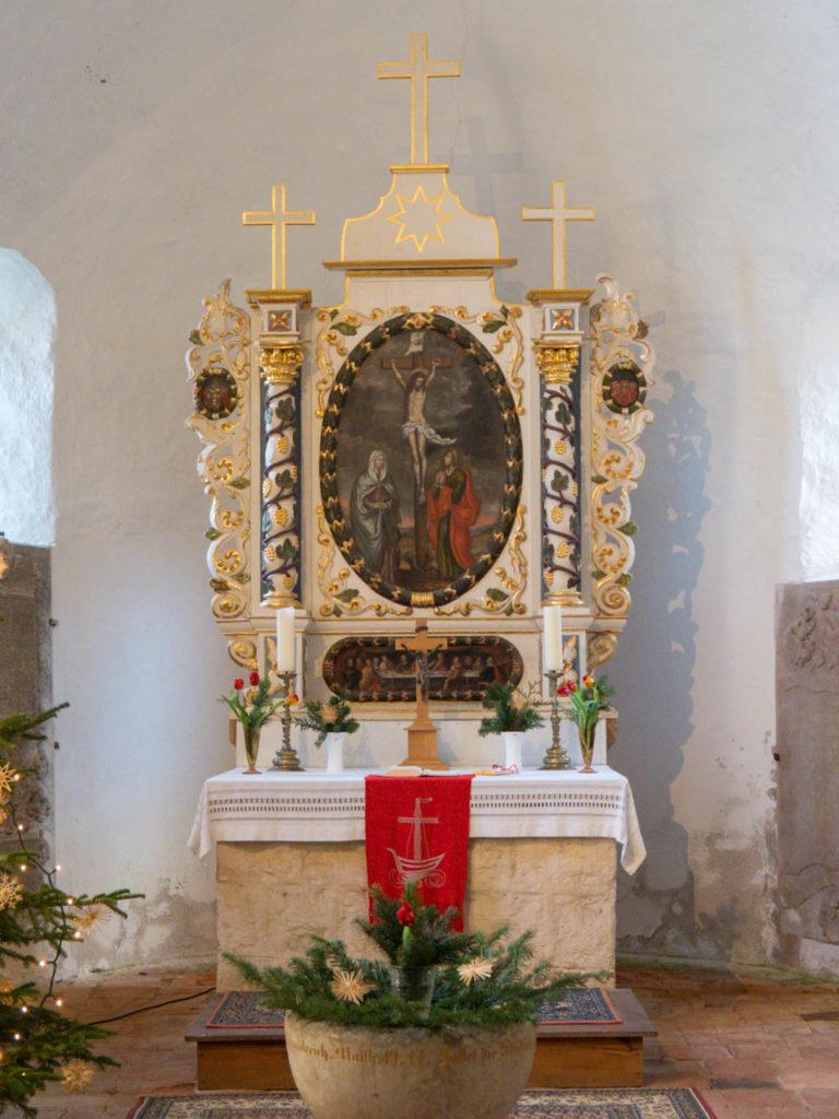 Dorfkirche Tempelberg Innenraum Altar
