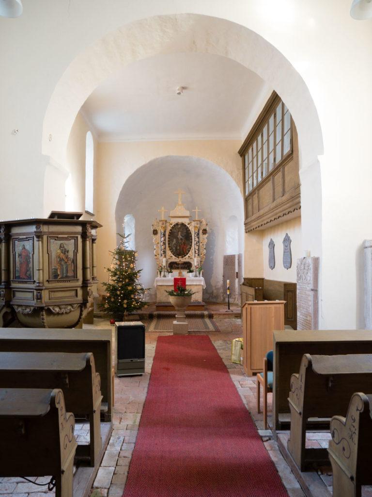 Dorfkirche Tempelberg Innenraum Blick nach Osten
