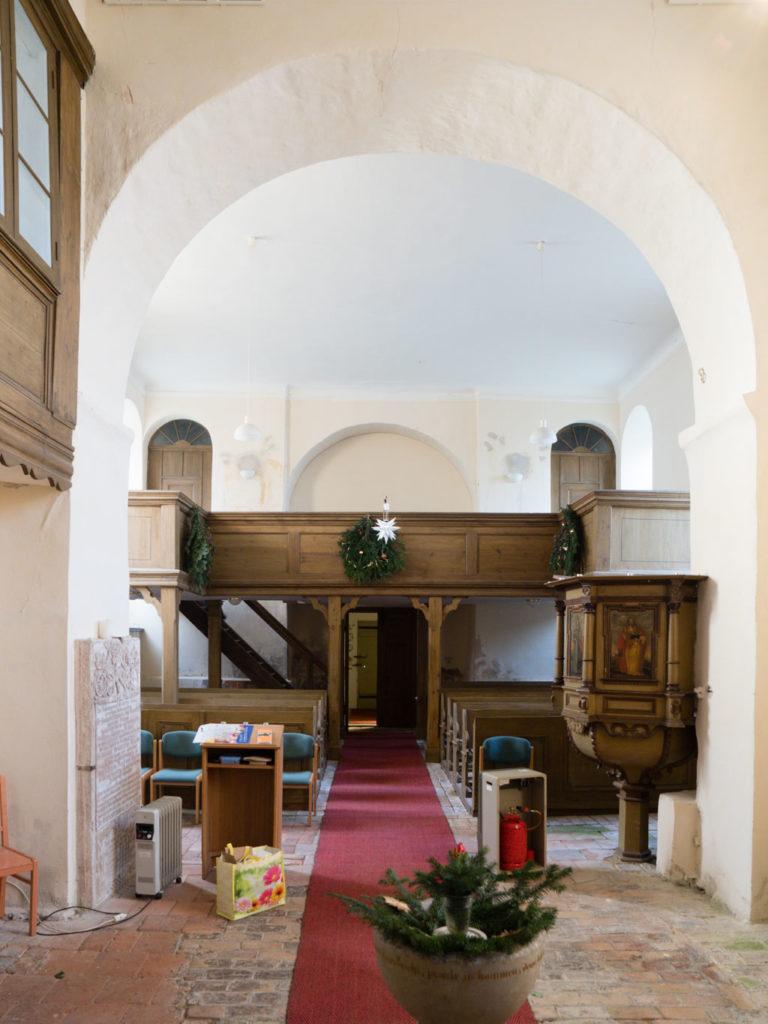 Dorfkirche Tempelberg Innenraum Blick nach Westen