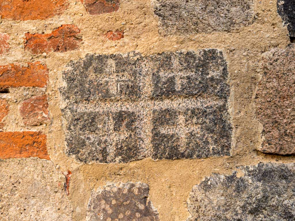 Dorfkirche Tempelberg Jerusalemstein am zugesetzen Portal der Südfassade des Schiffs