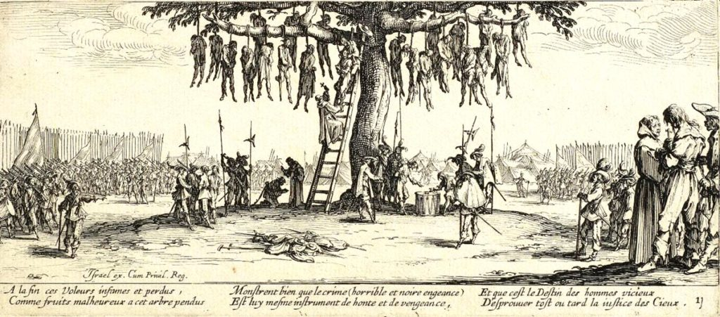 Jaques Callot 1632 - Der Galgenbaum