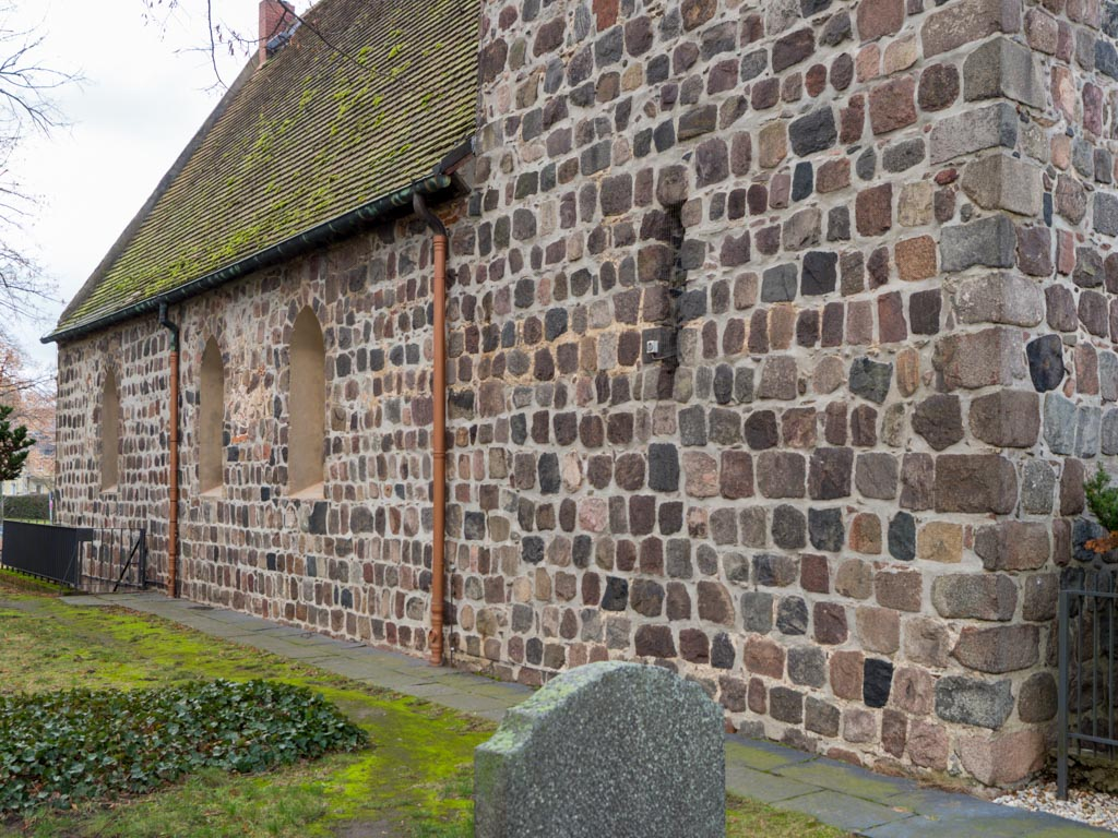 Dorfkirche Buckow Nordseite des Schiffes