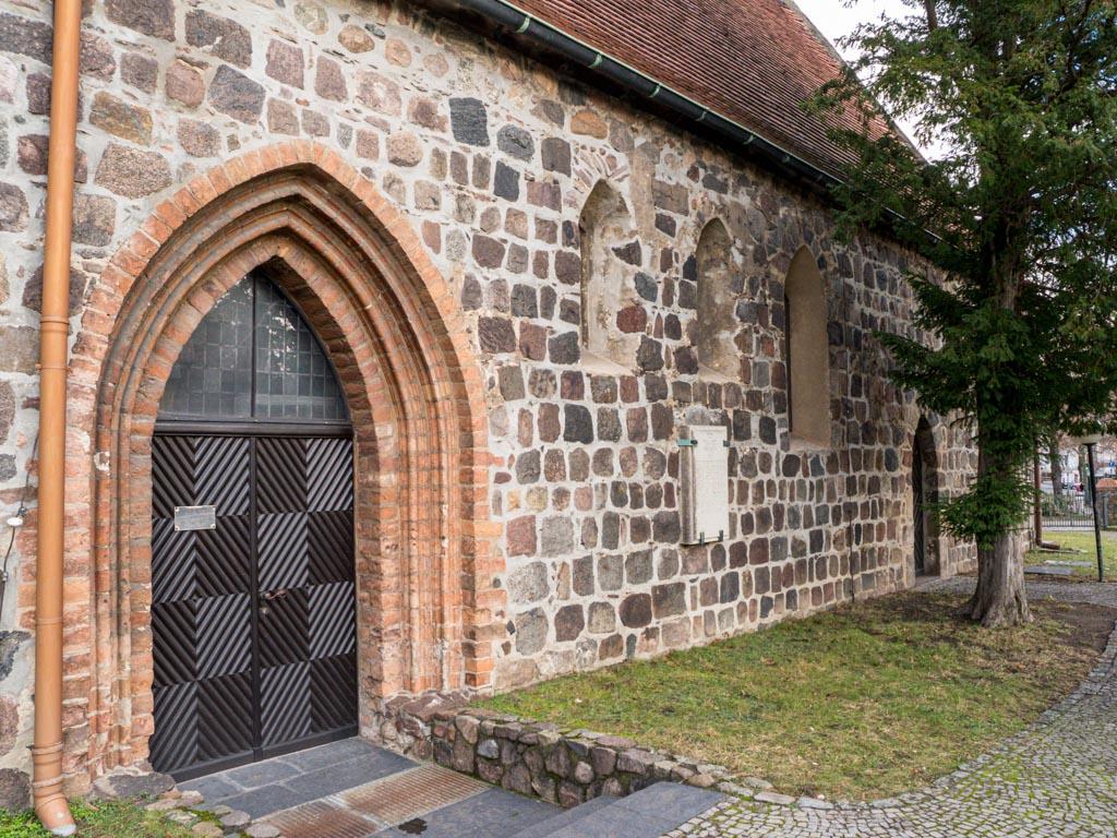 Dorfkirche Buckow Südseite des Schiffes