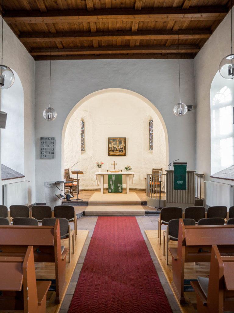Dorfkirche Lankwitz Chor, Apsisbogen und Apsis