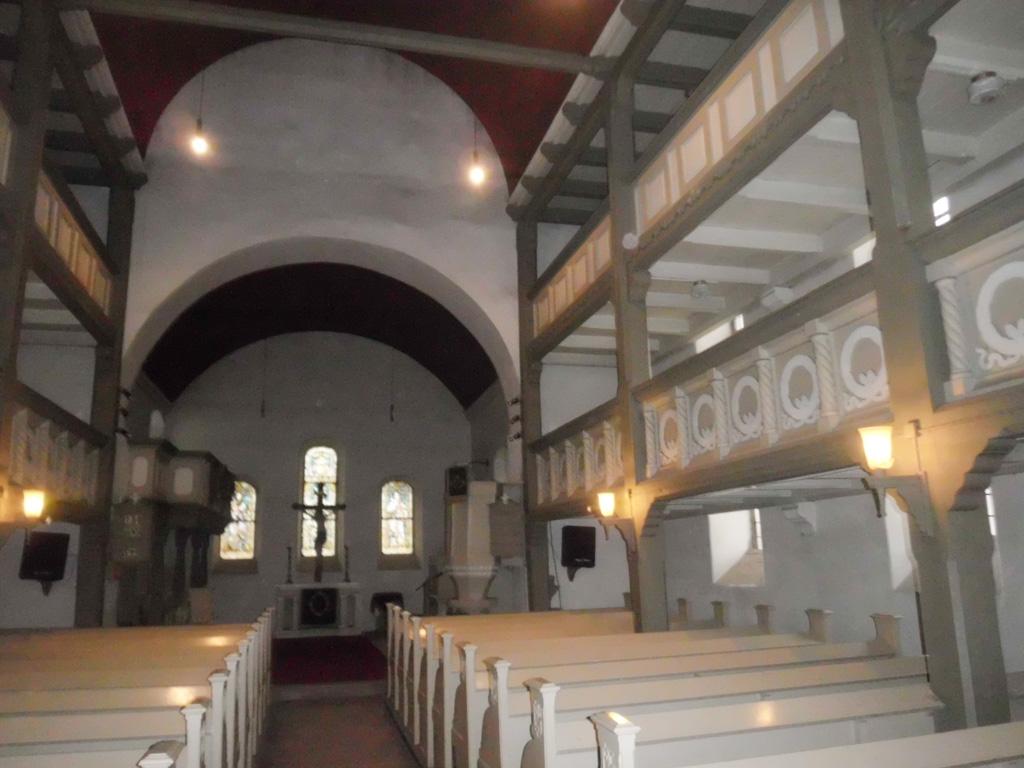 Dorfkirche Reetz Blick nach Osten zur Apsis