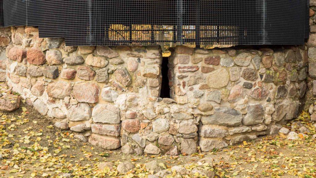Burg Belzig. Mauerwerk der Apsis der Kapelle.
