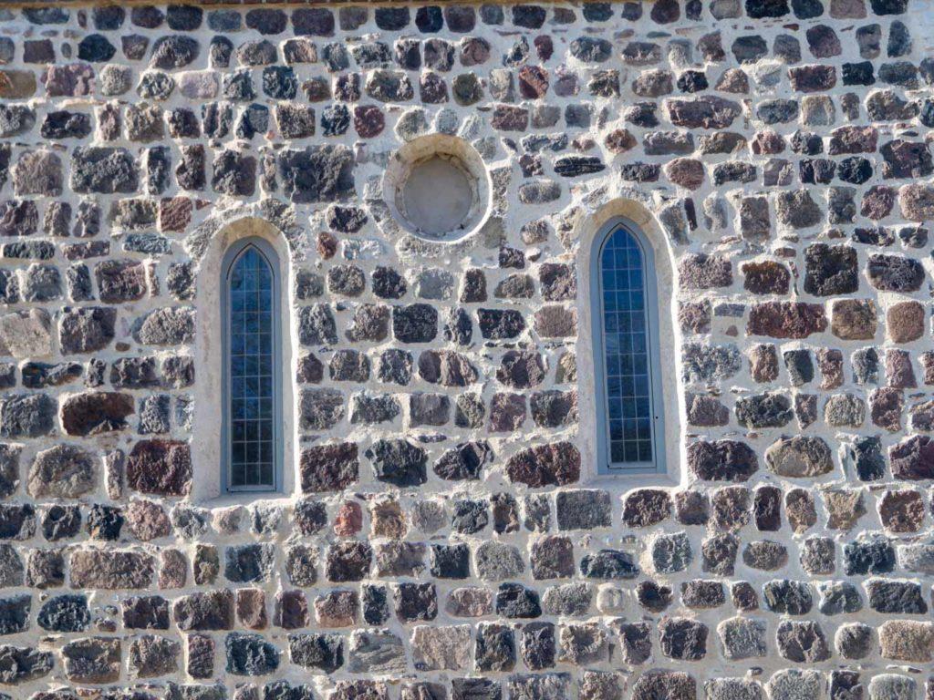 Dorfkirche Hohenschönhausen Detail der Ostfassade