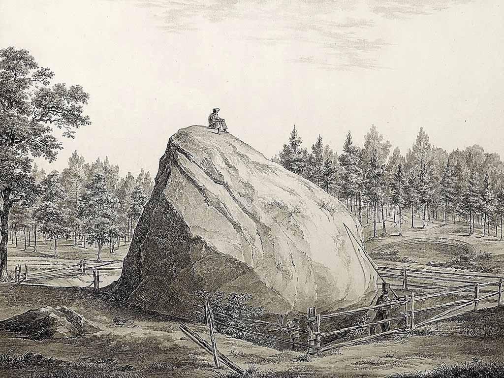 Großer Markgrafenstein. Lithographie von Julius Schoppe 1827