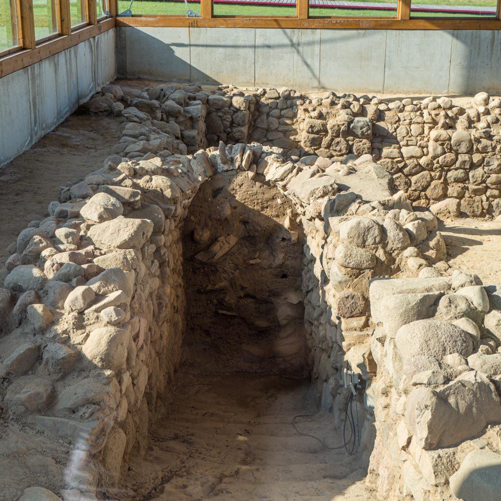 Kellerzugang aus romanischer Zeit.