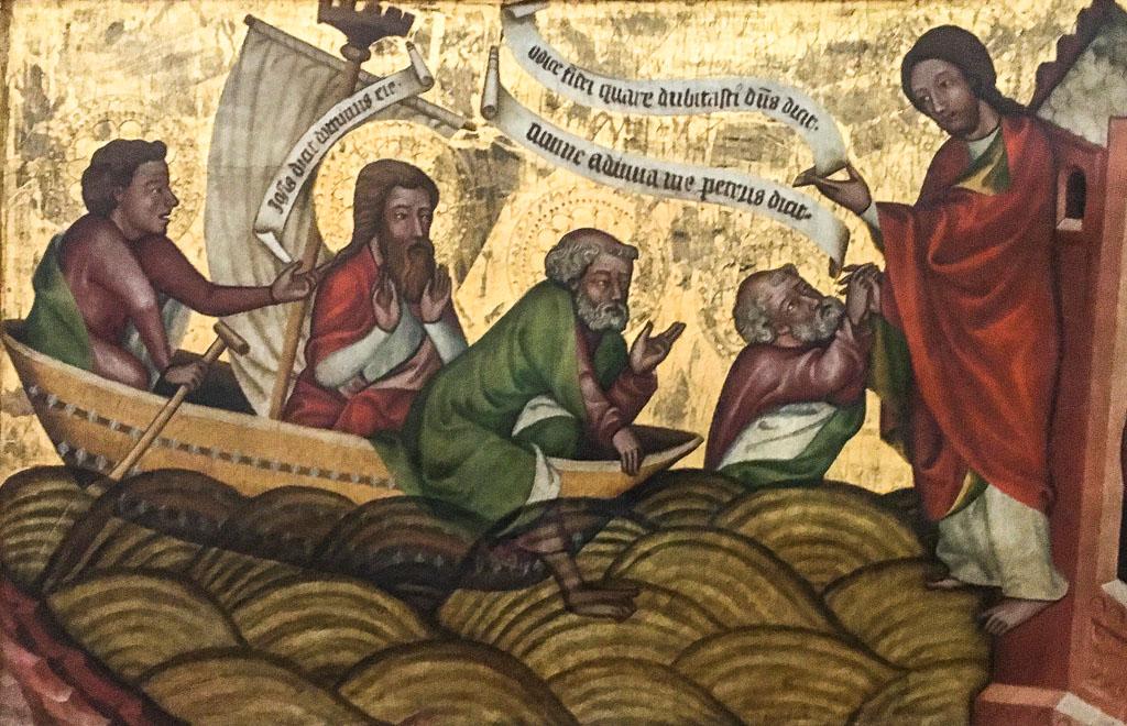 Petrus auf dem See Genezareth
